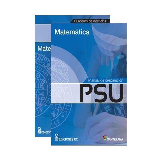 MANUAL DE PREPARACIÓN PSU Y CUADERNO DE EJERCICIOS MATEMÁTICA NOVEDAD (pack)
